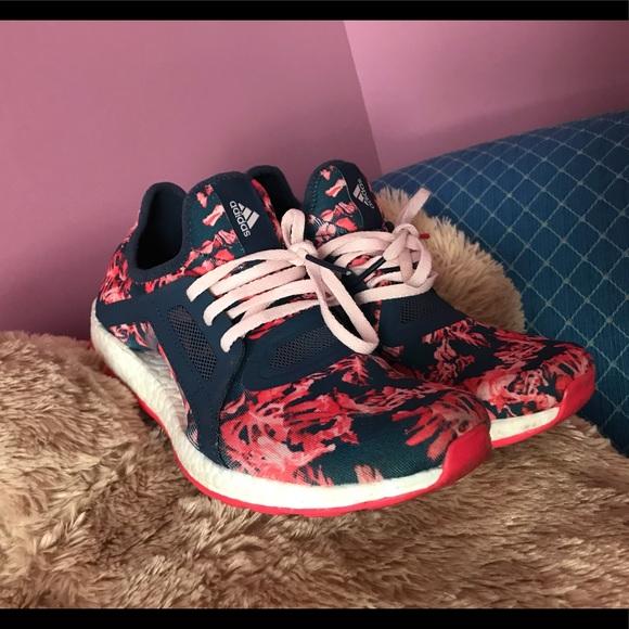 9303e3ba38031 adidas Shoes - Adidas pure boost X floral print